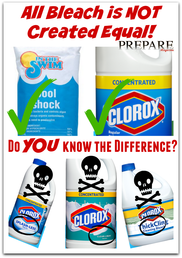 Diluted Bleach Mixture Touted As >> Prepare Magazine All Bleach Is Not Created Equal