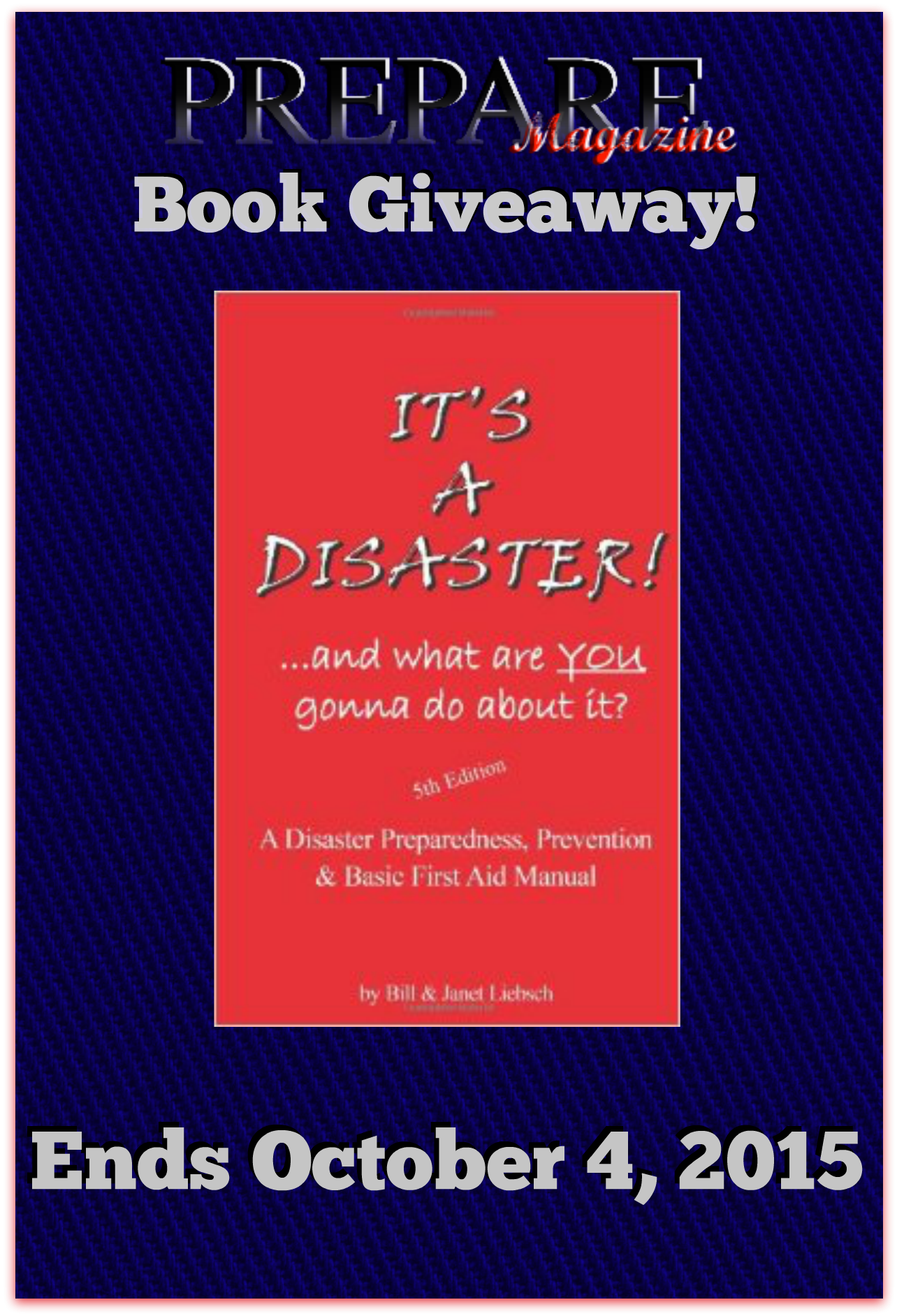 FB, Tweet, Pin and Blog Image for Its a Disaster Giveaway
